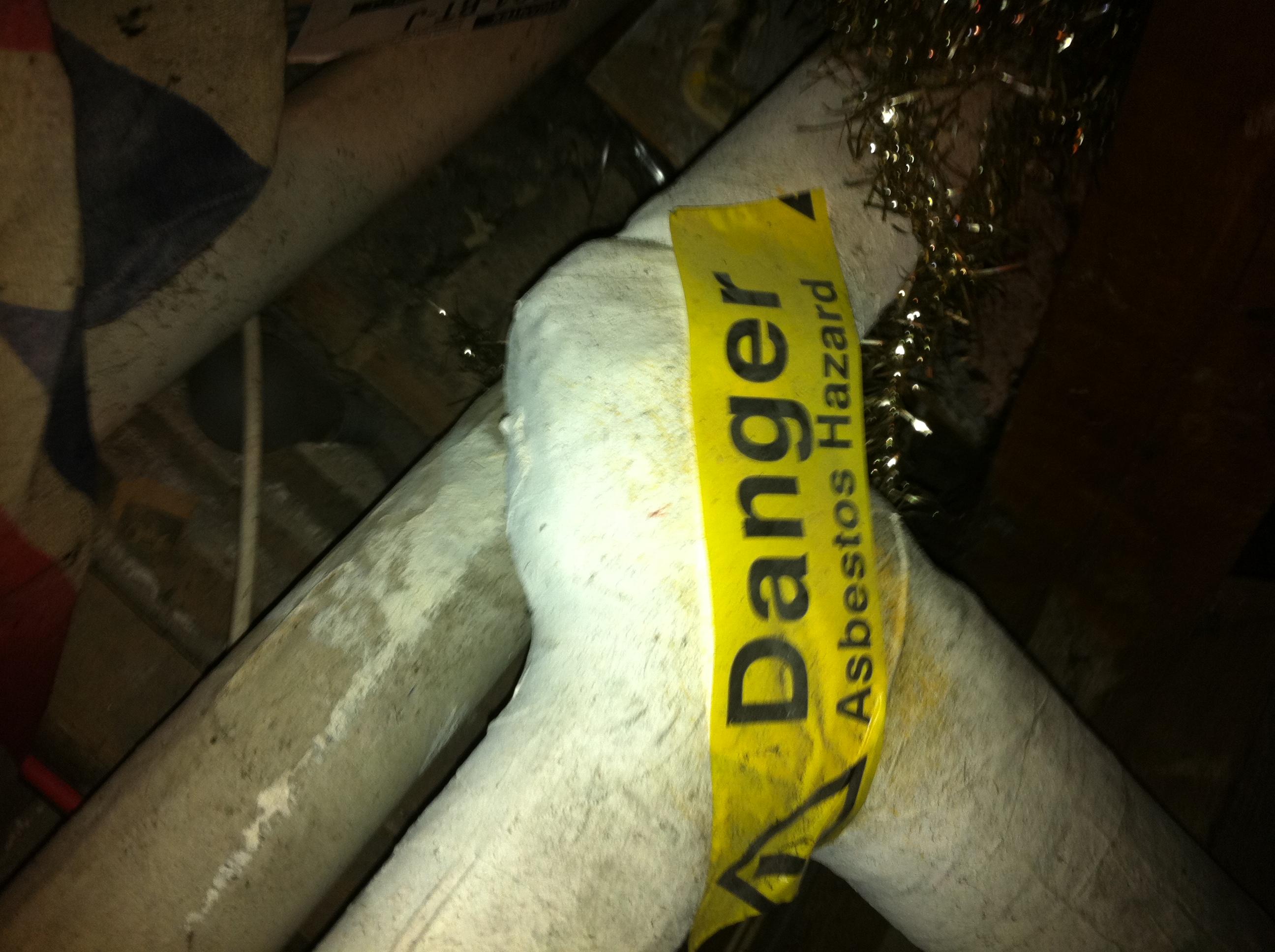 Asbestos Pipe Lagging closeup